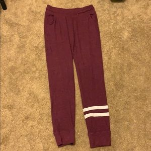 Soft burgundy sweats from old navy